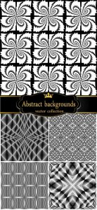 Abstract vector backgrounds, black and white texture