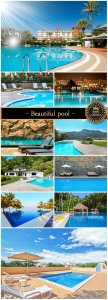 Beautiful pool - stock photos