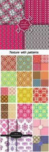 Beautiful texture with patterns, backgrounds vector