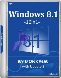 Windows 8.1 with Update 3 x64 AIO -16in1- by m0nkrus (RUS/ENG/2017)