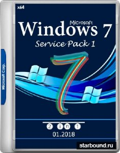 Windows 7 SP1 x64 2in1 v.01.2018 by YahooXXX (RUS/2018)